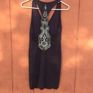Free People Dresses - Free people embellished form fitted dress